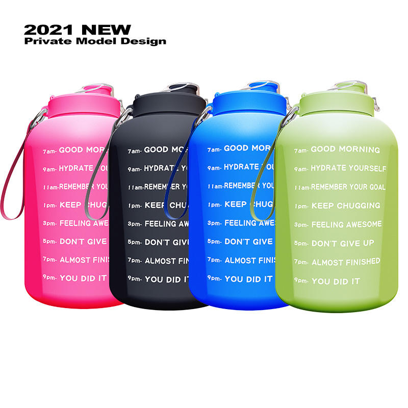 Free Sample One 1 Gallon Large Capacity Water Bottle Motivational Time Marker Sports Water Bottle with Comtom Logo