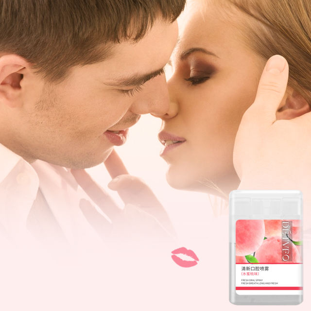 China Supplier Peach Taste Refreshing Mouth Spray Oral Spray For Bad Breath Date