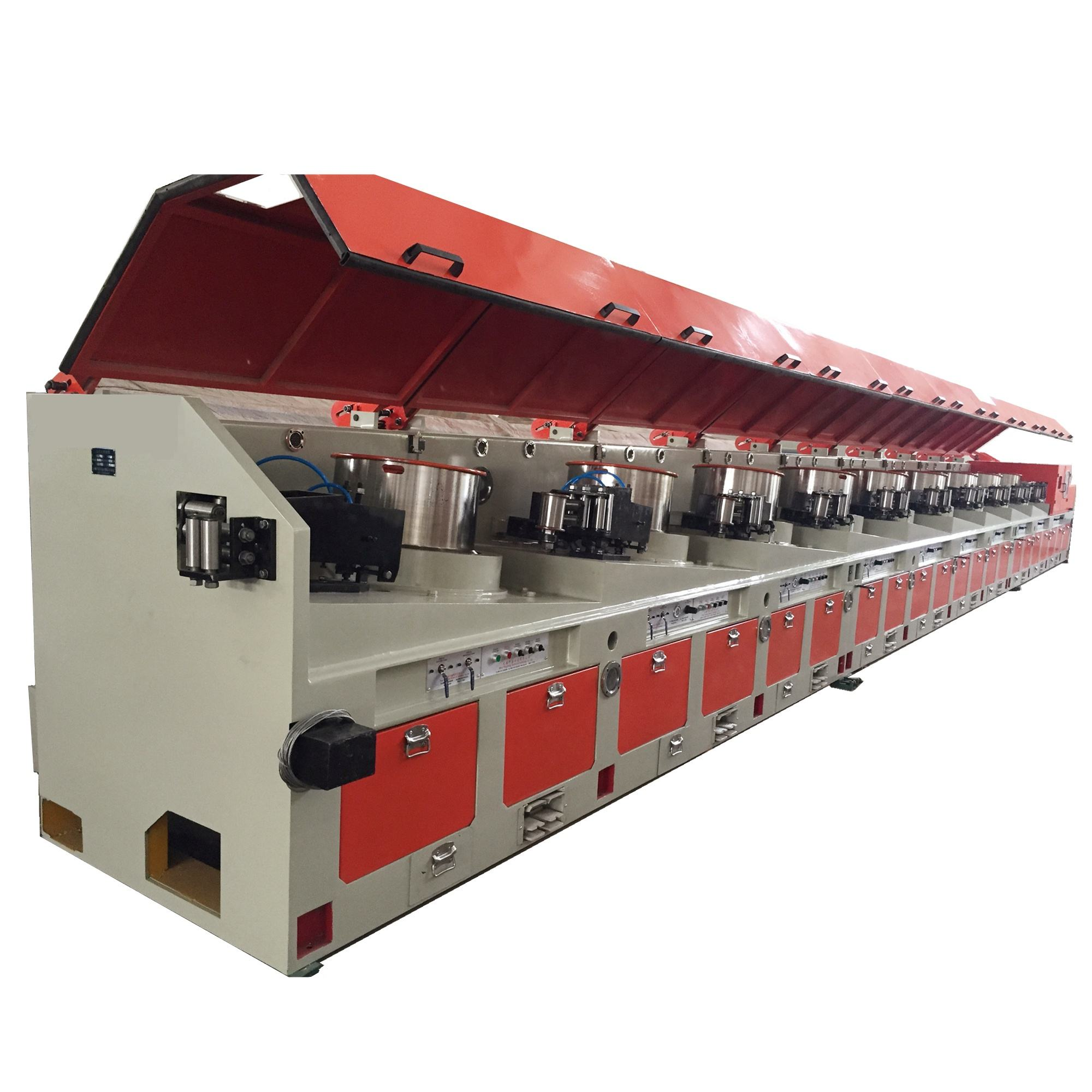 Straight-line type wire drawing machine