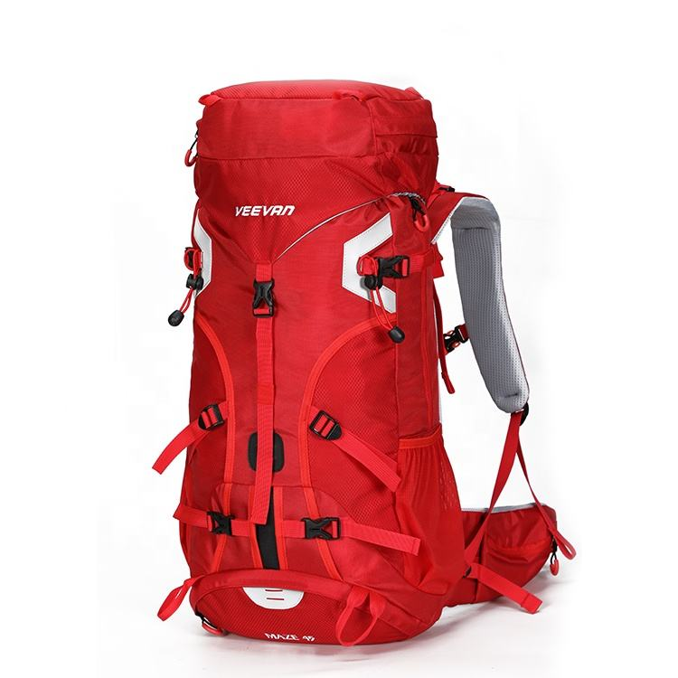 Wholesale red top quality waterproof sport pack camping tents mountaineering bag trekking rucksack hiking backpack bag