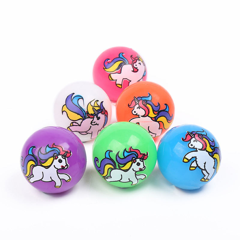 New Style Unicorn Toy LED High Bouncing Ball Flash Jump Bouncing Ball Squeeze Air Ball