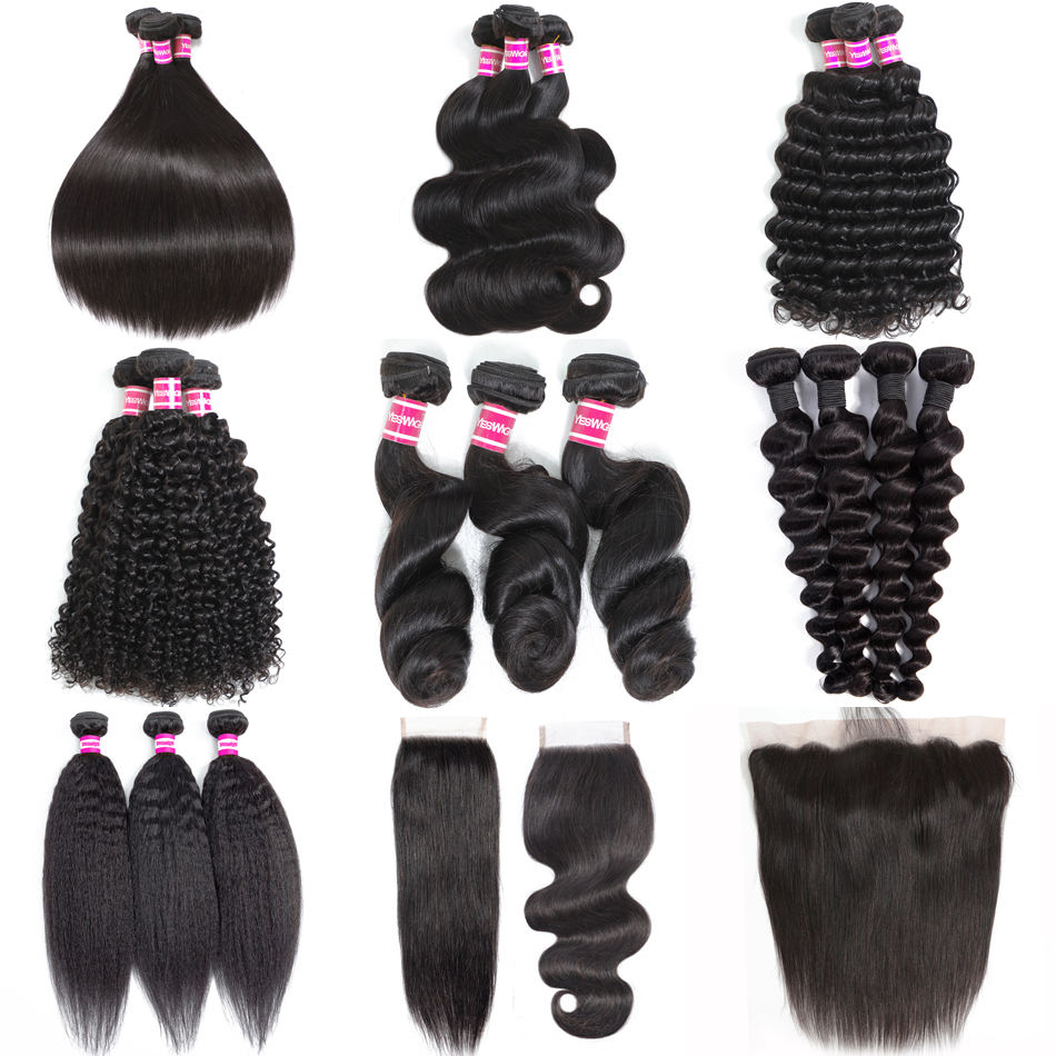 Yeswig Wholesale Hair Products For Black Women Loose Wave Hair Malaysian Bundles Double Weft Hair Human Virgin Donor Extension