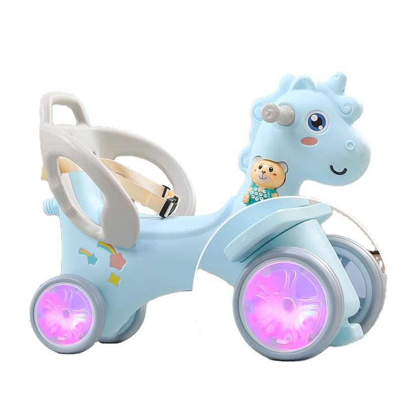 Updated Children Plastic 2 in 1 Baby Riding Toy Animal Rocking Horse for Kids