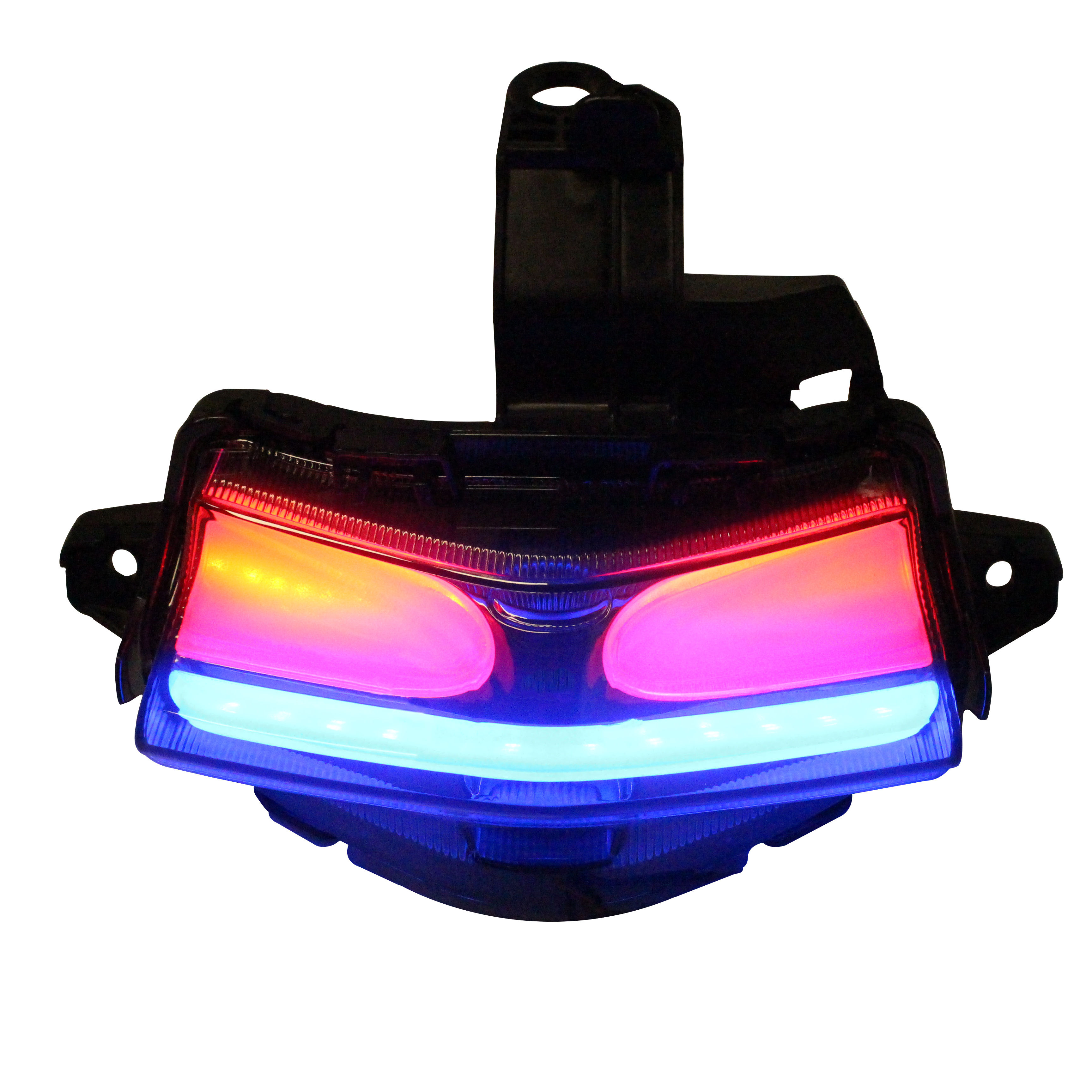 red lens taillight motorcycle led rear lamp plastic material stop lamp for aeroxL155
