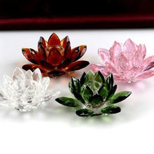 MH-ZT103 crystal lotus flower tealight candle holder