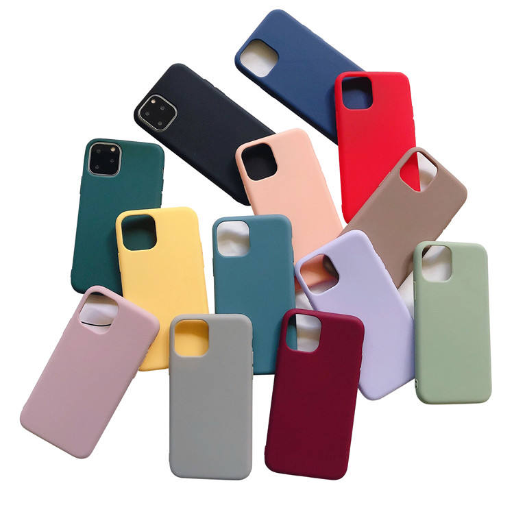 Matte Soft Tpu Silicone Shockproof Phone Coque Cover Pro Max For Iphone 11 Case