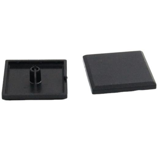 3030-slanted Right Angle Single Hole-5.1mm Black Pvc Pipe End Cover/square End Tube Cover