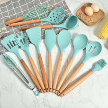 12 pcs Food grade silicone Cooking baking utensils heat resistant utensils silicone kitchen set