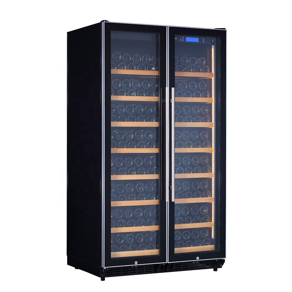 Freestanding Two Units Compressor Single Zone 320 Bottles Wine Cellar Refrigerator