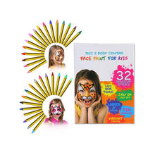 32color Crayons Face Painting Makeup Sticks Clown Makeup Non-Toxic Halloween Kids/ Child Dress up for Baby