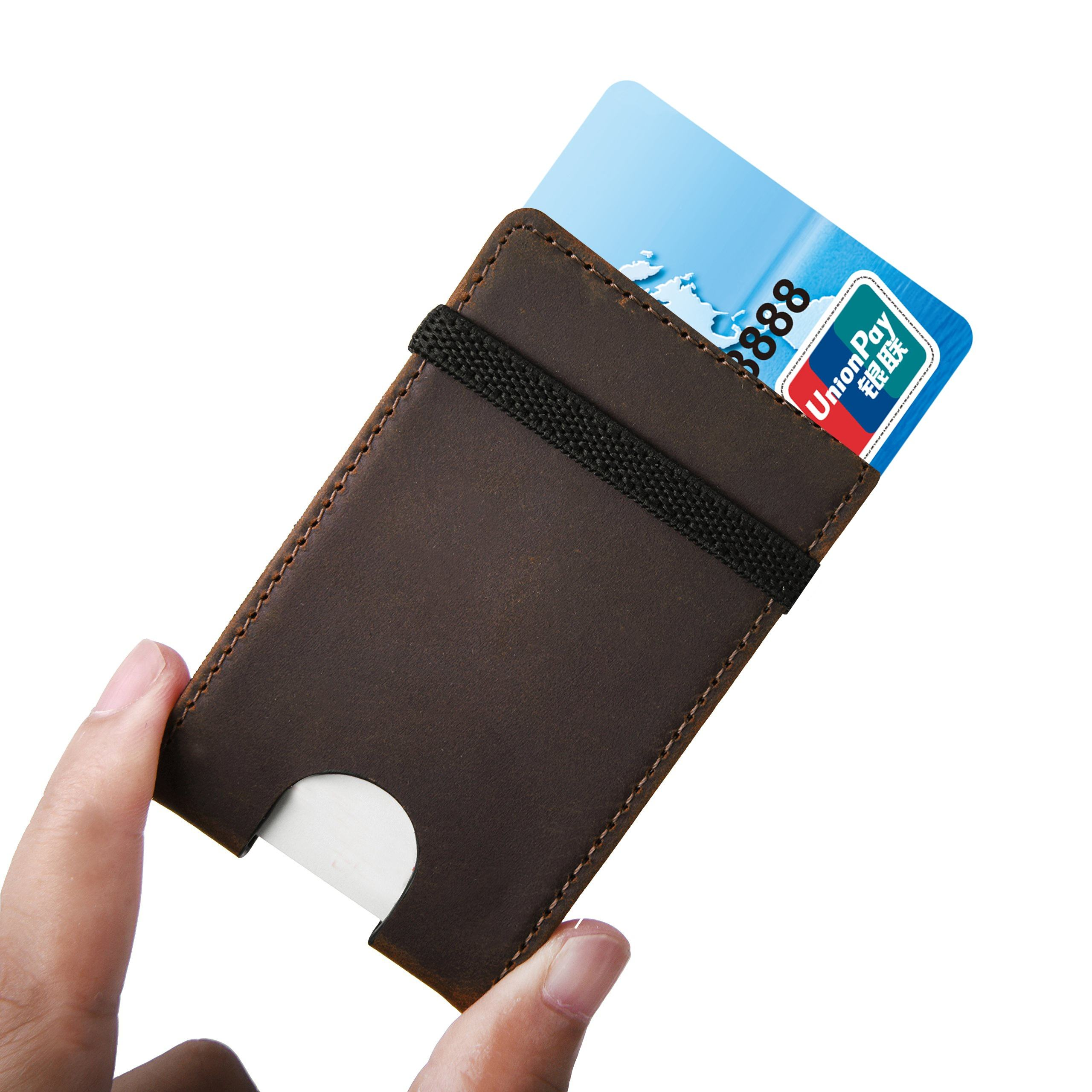 DAX Multifunction Pull Out Card Holder Stack Up Ultra Slim Wallet Case Purse