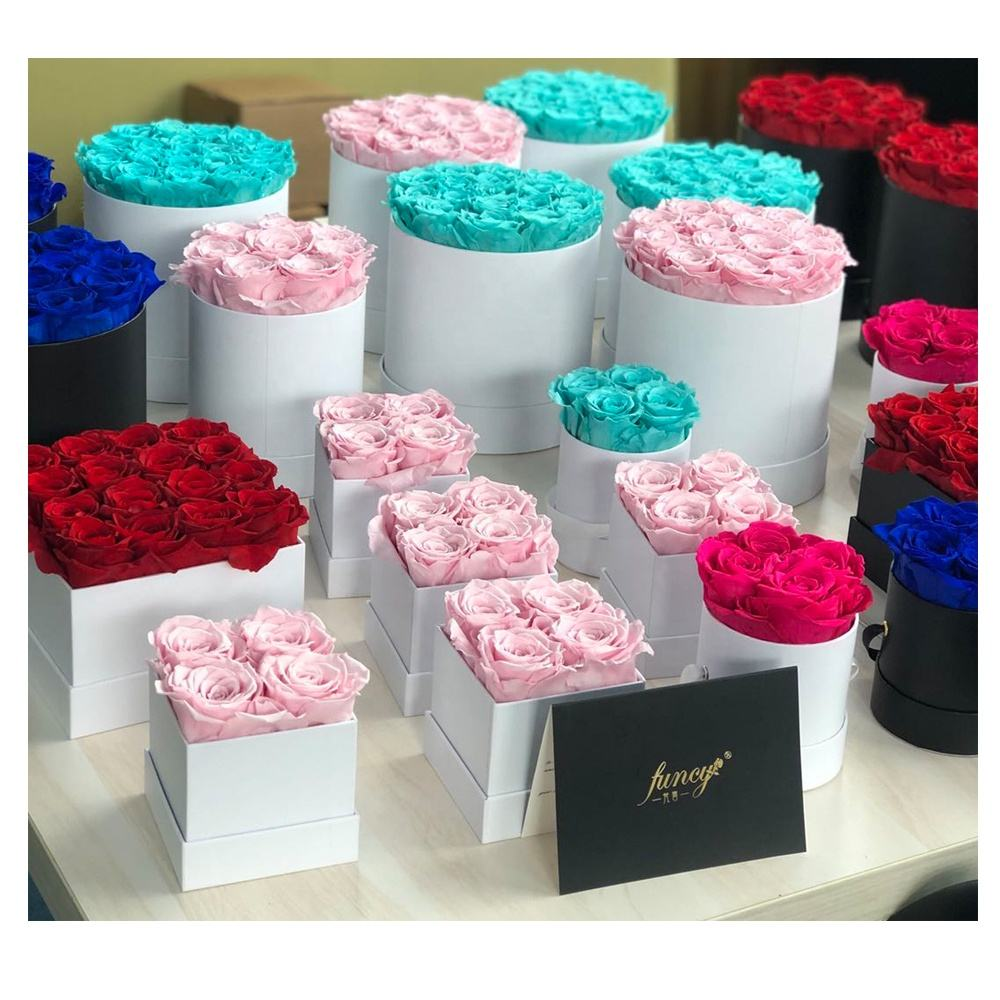 Wholesale A Grade 50 Colors Immortal Infinity Eternal Forever Stabilized Preserved Roses In Gift Box Perfect Valentines Day Gift