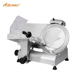ASAKI Restaurant industrial electric semi-automatic stainless steel frozen meat cutter sausage slicer
