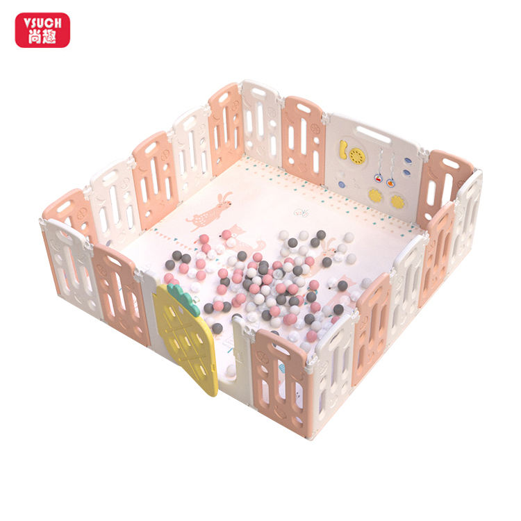 16+2 Panel Child Safety Large Modern Baby Portable Playpen Baby Playpen