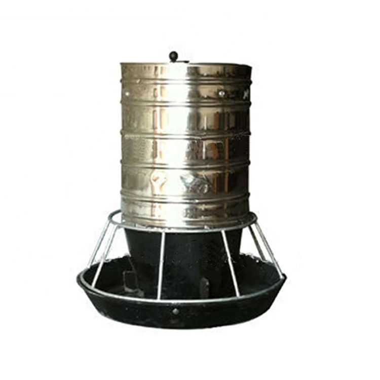 Cast Iron Bottom Poultry Bucket Automatic Feeder