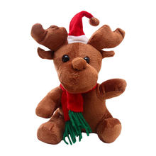 Wholesale Christmas Reindeer Animal Elk Plush Toy With Music Box