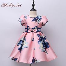 Latest Summer African Floral Girl Party Dress Girls' Dresses For Girl Kid