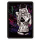 Factory outdoor black retro 30x20 sexy lady euro vintage style custom printed decorative metal tin sign
