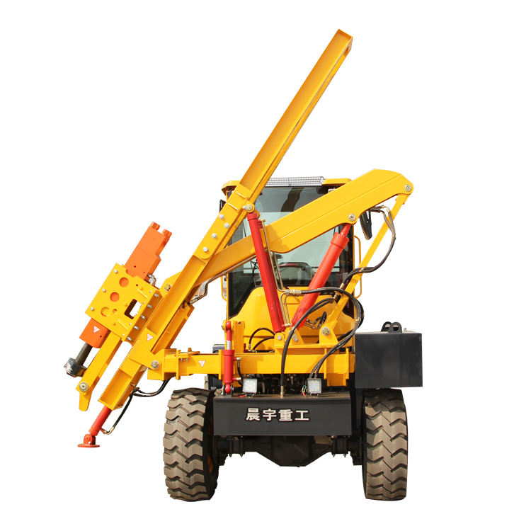 Hydraulic highway pile driver machine pile driver position with CE certification