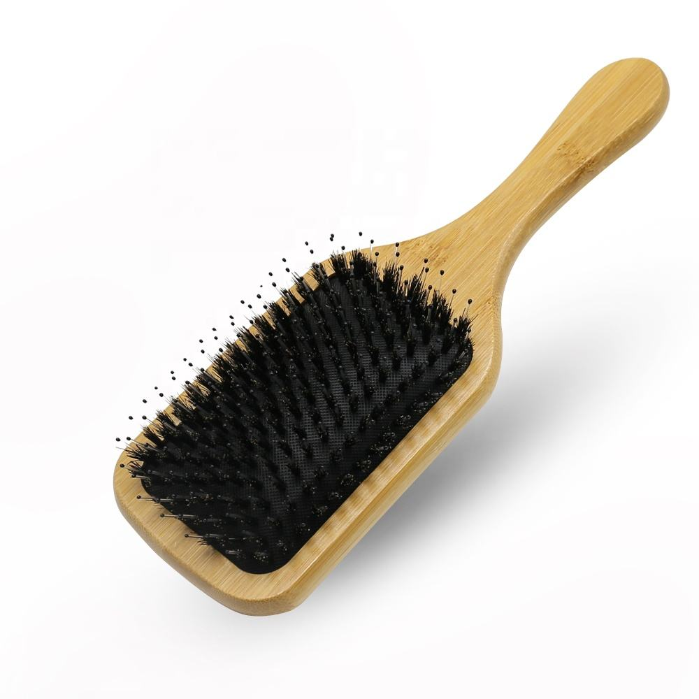 Boar Bristle Brush Hair Double Side Clearance Tepe Bamboo Bamboohairbrush 12 Wok Nature Bamboowooden Massage Comb Sustainable