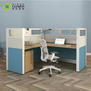 Foshan high end modern style L Shape sound proof wooden office cubicle design for sale