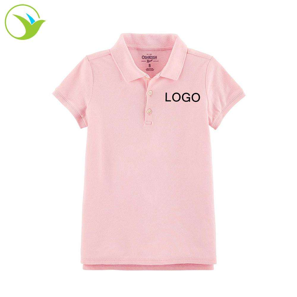 China wholesale news style 100% cotton short sleeves polo shirt kids school uniform set designs for primary schools
