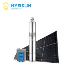 Manufacturing DC 24v solar pumps deep well water stainless steel submersible borehole pump for agriculture irrigation