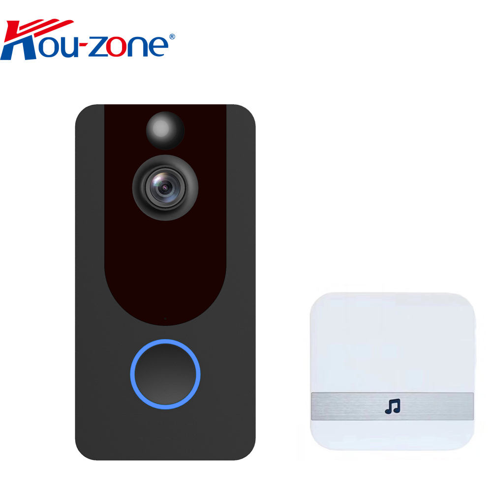 166 degree angle cmos sensor LiveHome app wifi video 1080p doorbell pir night vision intercom smart video doorbell wireless