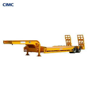 CIMC Dongyue 3 Axles reinforced drop deck Low Bed Truck Trailer for sale