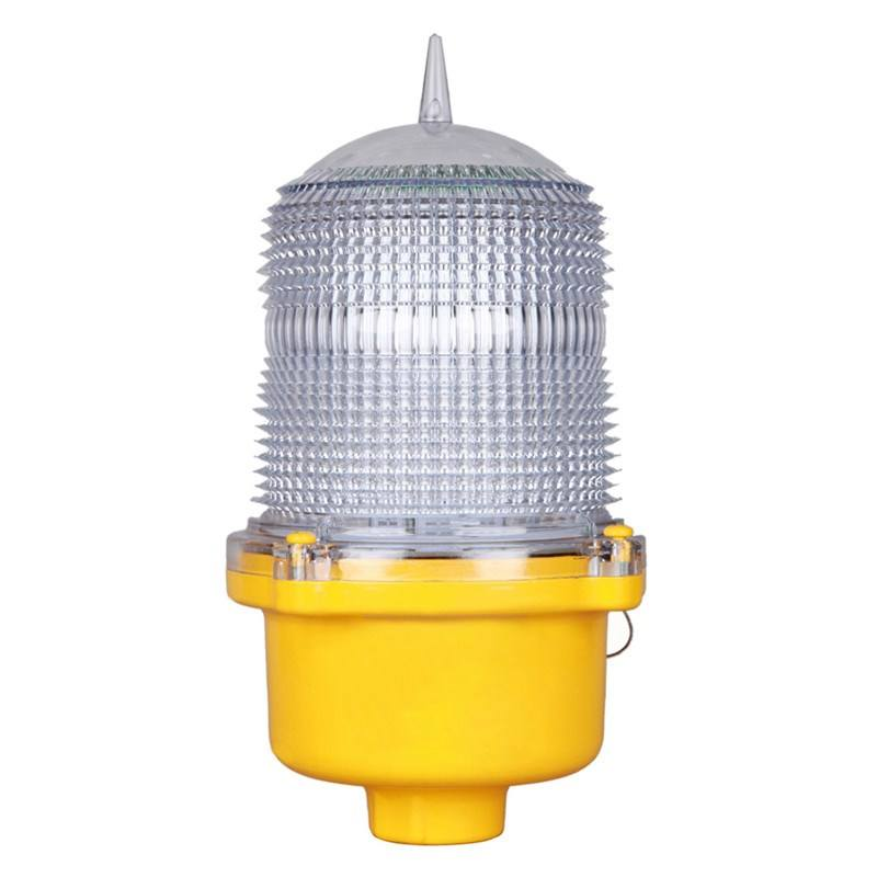 Aircraft warning lights on towers low intensity obstruction light