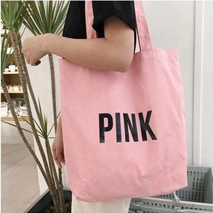 Wholesale Customized Logo Foldable Reusable Cotton Canvas Women Shopping Tote Bag