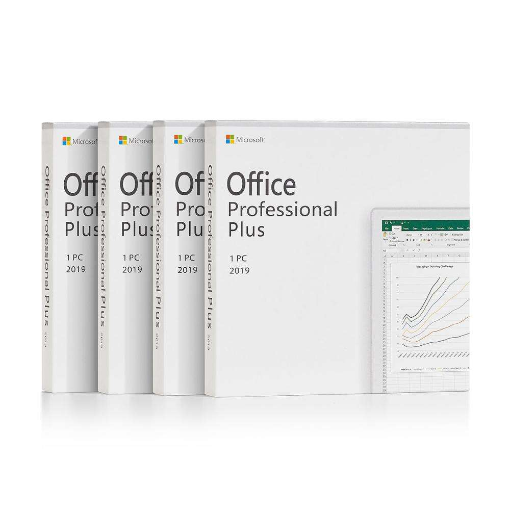 Genuine Microsoft Office 2019 pro plus Retail Box Package with DVD 64bits microsoft software office 2016