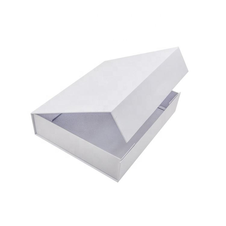 Luxury folding cardboard gift box custom printed paper clamshell magnetic gift boxes