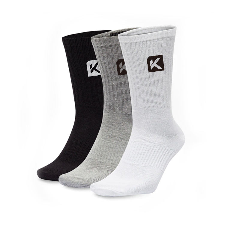 custom logo men white black bamboo cotton athletic sports cycling basketball crew socks gray gym workout terry sport sox for man