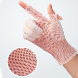 YULAN SG010 Women's Ice silk anti uv gloves, Sun Protective, Driving Fishing Gloves