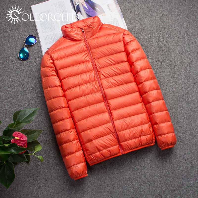 High Performance Breathable Parka Short Folding Down Filled Nylon Light Jacket Men