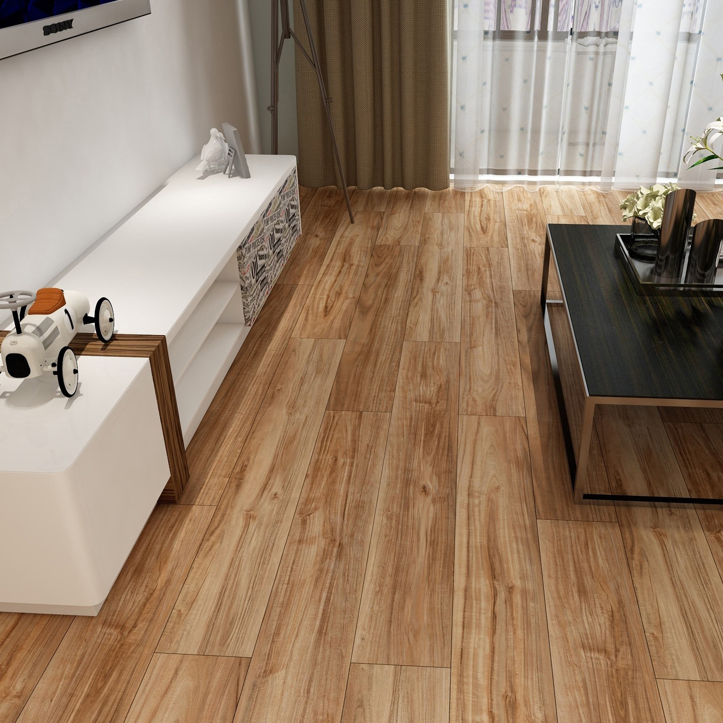 Wear-resistance Grey Brown Wood Grain Eco Waterproof Tranquility Vinyl Flooring