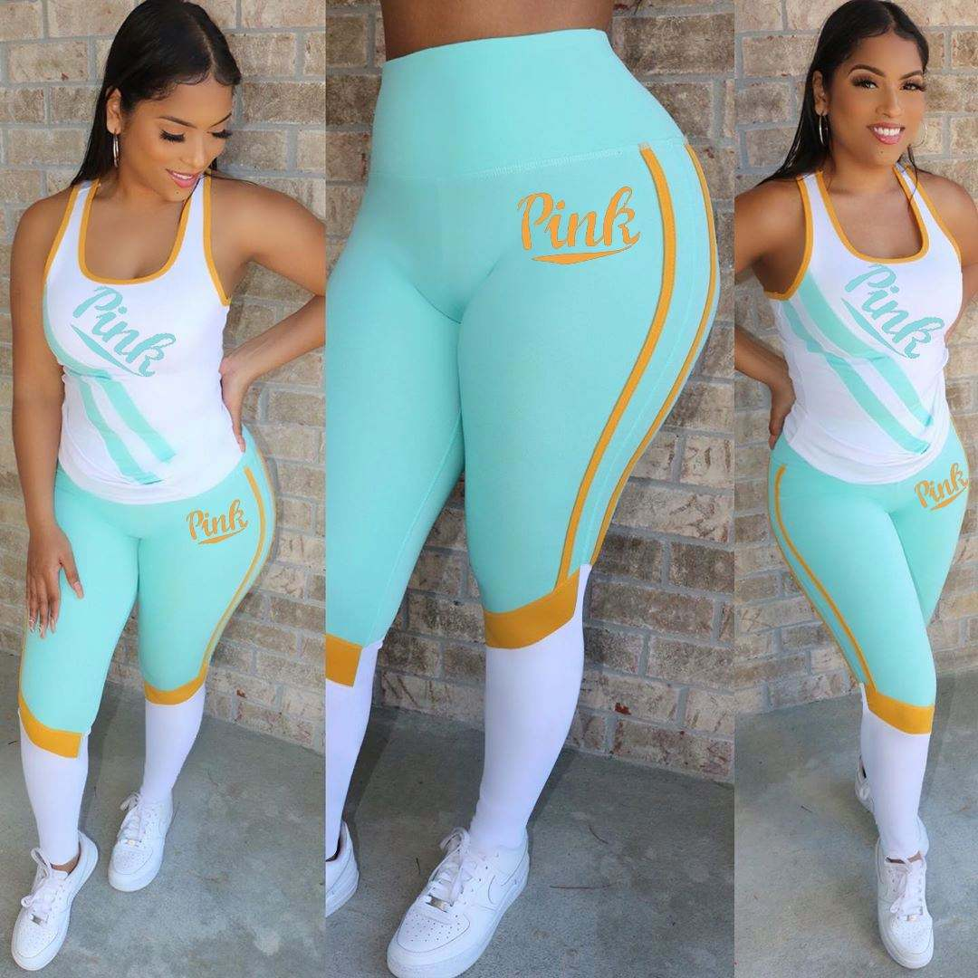2021 Summer Fashion Sexy Yoga Wear Outfit Sets Women Clothing Two Pieces Set Ethika Women Set
