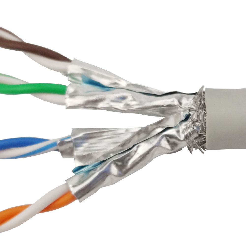 HT 8 Number of Conductors Shielded Twisted Pair SFTP Cat6A Ethernet Cable