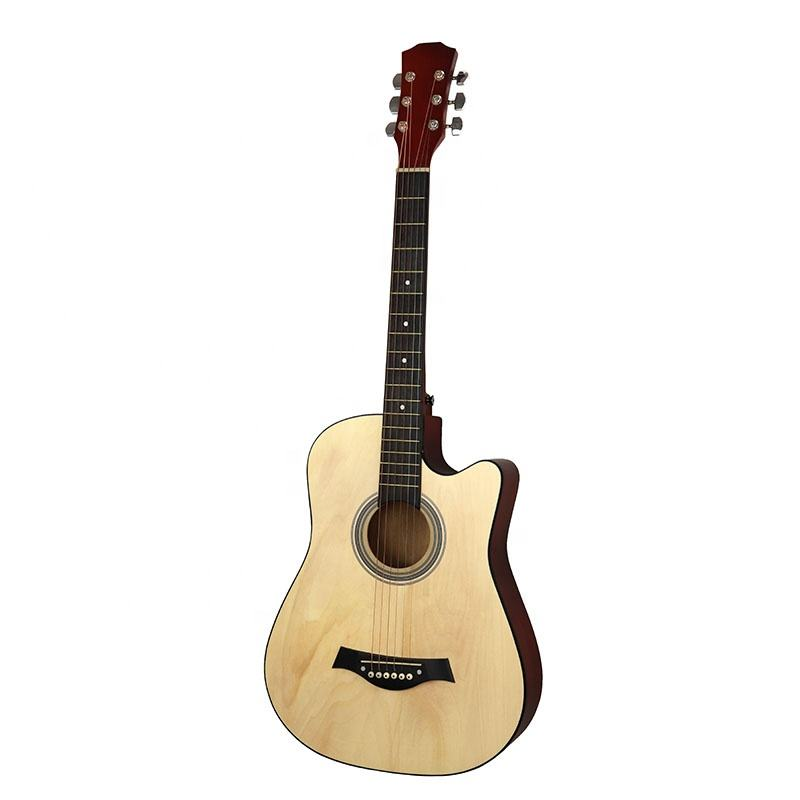 38 Inch Wooden Acoustic Guitar All Bass Wood Acoustic Electric Guitars for Beginner