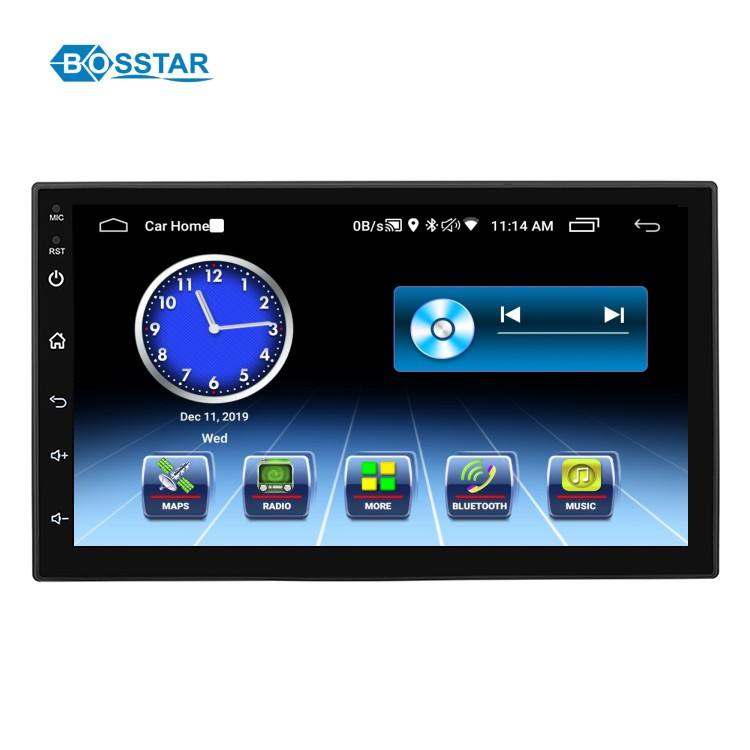 Bosstar Double Din 7 Inch Universal Car Dvd Radio Multimedia Player with Wifi Bluetooth