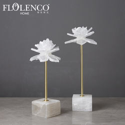 Creative Interior Clear Stone Flower Art Craft Home Decor We