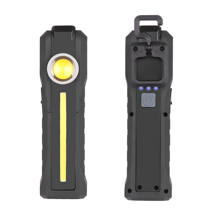 1000 Hight Lumens LED Work Light Flashlight with Magnetic Base USB Rechargeable Torch with Built-in 18650 Battery with Hook