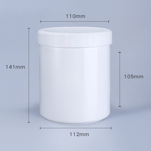 1000ml Plastic Jars For Storage Powder Sealing With Inner Lid