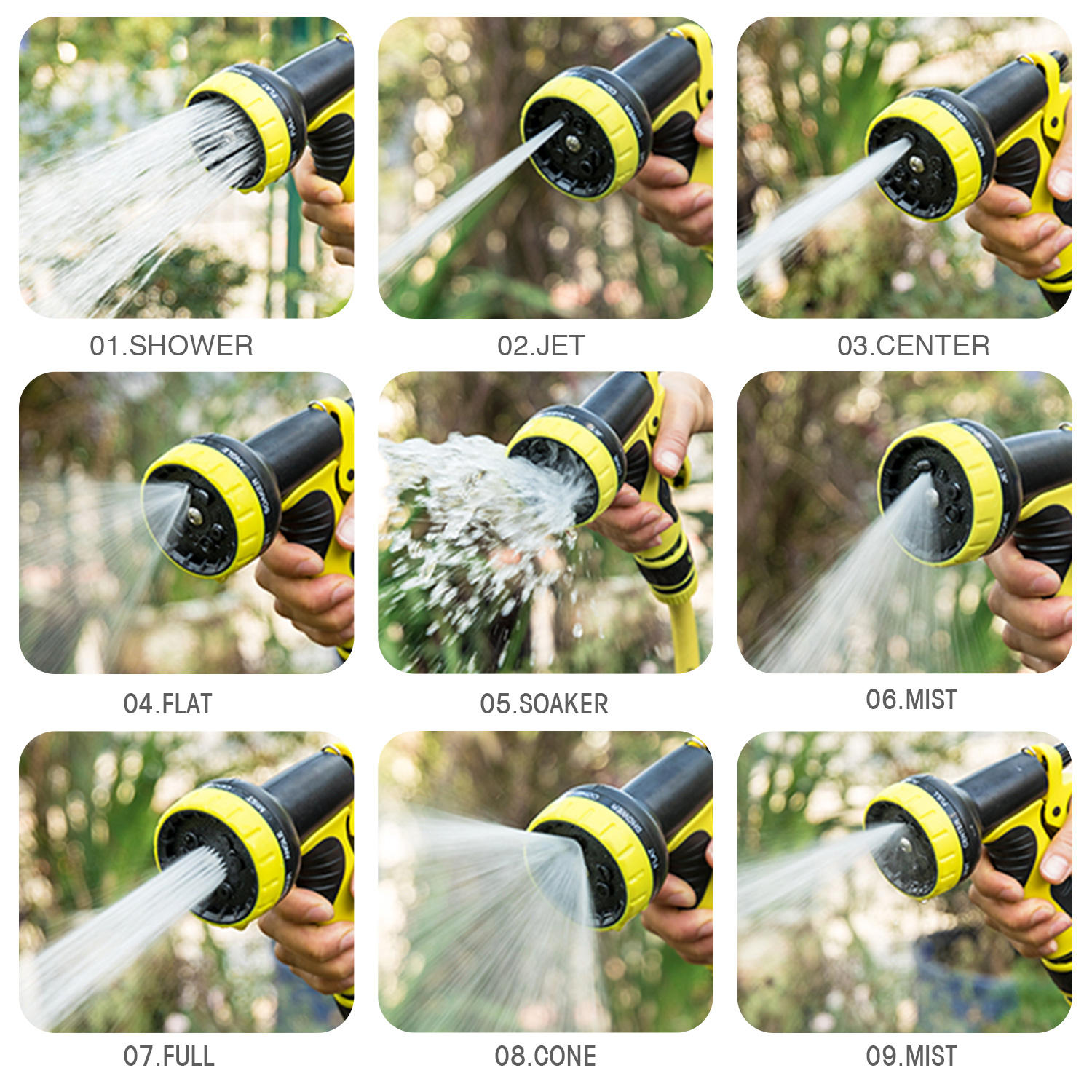 Expandable Water Garden Hose 2021New Design Expandable Garden Hose Easy Operation Garden Water Pipe Hose With 8 Function Spray Nozzle
