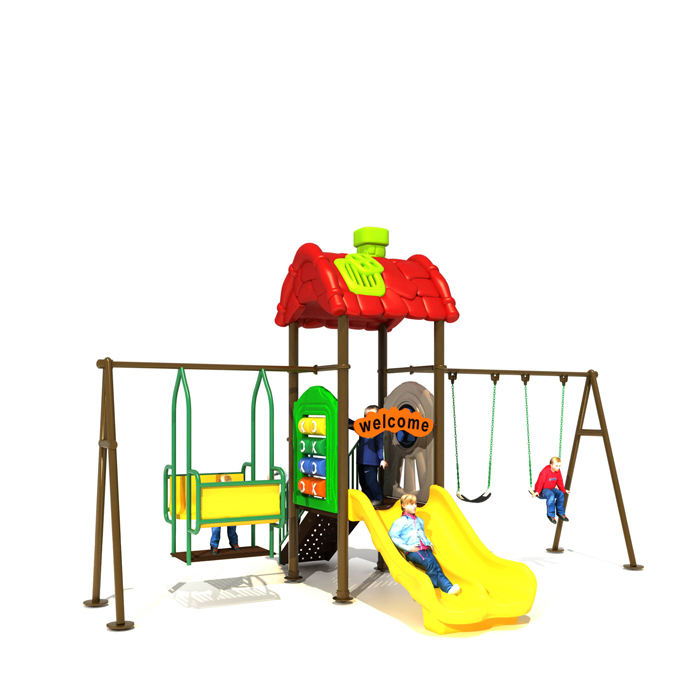 Easily assembled playground plastic furniture slides tube slide plastic