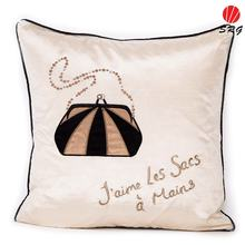 fashion bag decorative silk cushion