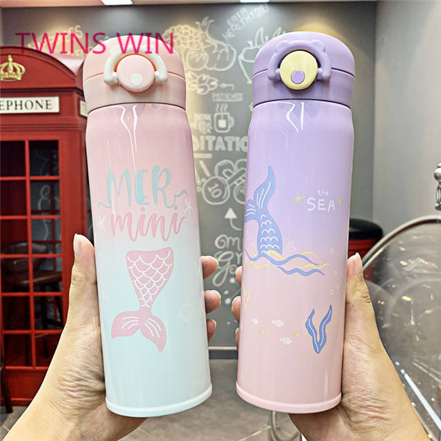 Free samples 2020 Hot Selling Outdoor sports Foldable kids fashion reusable 500ml Drinking eco friendly steel water bottle 1293