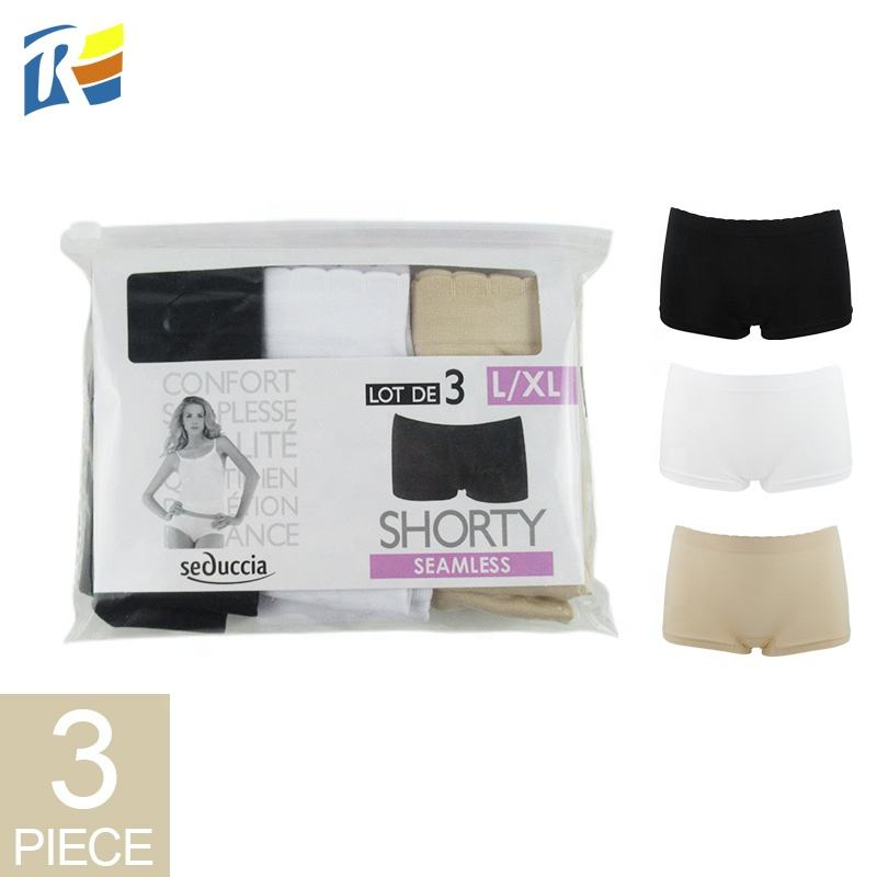 Wholesale Direct Manufacturer Daily Multi Color 3- pack Plain Seamless Women Boyshorts