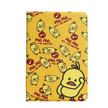 DT006 Yellow duck table covers PU leather tablet cases for iPad